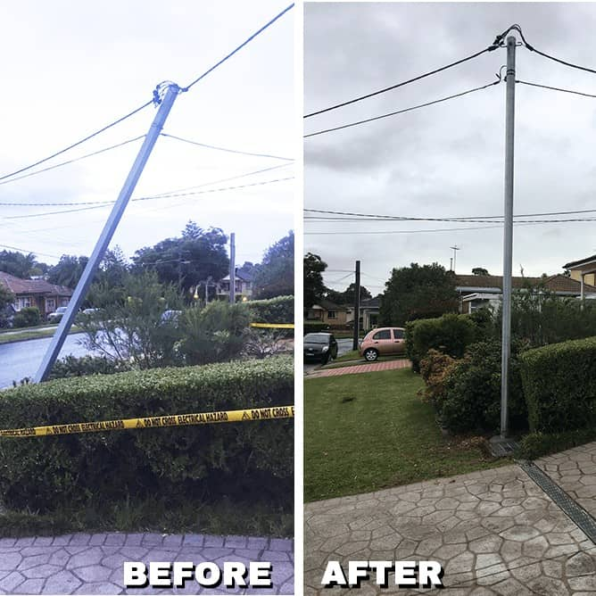 Level 2 Fixing Electrical Pole