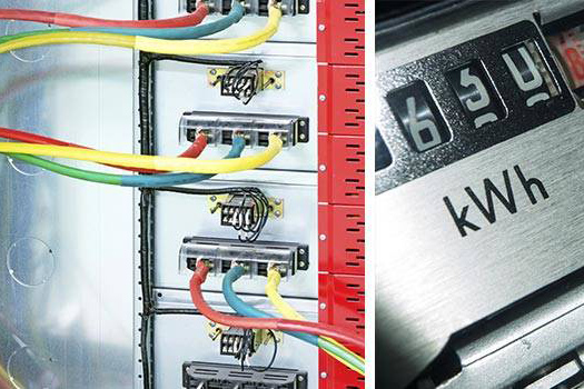 faraday electricmeters wires
